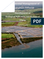 Environmental Management of Aquaculture Efluente. Development of Biological Indicators and Biological Filters