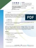 Nova Ementa Macroeconomia Aplicada a Economia Brasileira