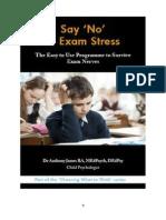 Say 'No' to Exam Stress