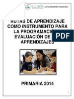 Rutas de Aprendizaje como instrumentos para la programación y evaluación de los aprendizajes