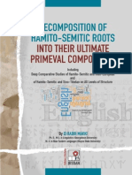 Decomposition of Hamito-Semitic Roots into their Ultimate Primeval Components...