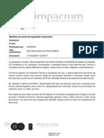 As medidas de tutela da legalidade Urbnística - despejo adm. - Cedoua 2004