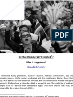 Is Thai Democracy Finished