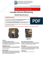 20040 Clx Online Chlorine Residual Analyer Specifications