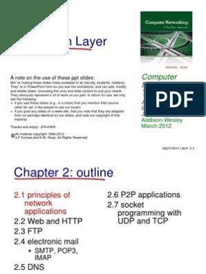 ch2 | Hypertext Transfer Protocol | File Transfer Protocol