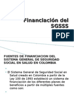 Financiación del SGSSS