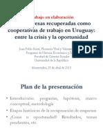 Las Empresas Recuperadas Como Cooperativas de Trabajo Entre la crisis y la oportunidad
