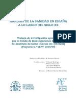 ANALISIS DE LA SANIDAD EN ESPAÑA SXX