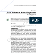 BrainCell Internet Advertising Exercise _Solver