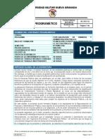 CONTENIDO PROGRAMÁTICO PLANEACIÓN FINANCIERA