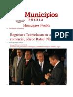 16-02-2014 Municipios Puebla - Regresar a Texmelucan su vocación comercial, ofrece Rafael Núñez.pdf