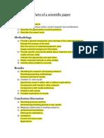 Parts of a Scientific Paper