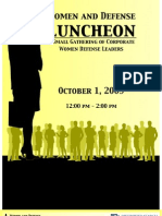 Women and Defense October 1, 2009 Program