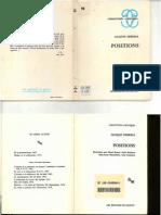 1972. Derrida, J. Positions