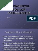 DIAGNOSTICUL BOLILOR PROFESIONALE