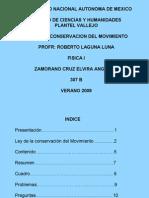 Ley de Conservacion Del Movimiento - Angelica Zamorano