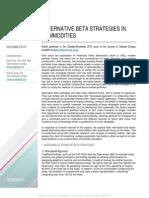 Alternative Beta Strategies in Commodities