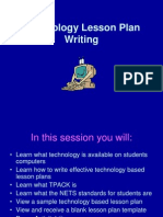Technology Lesson Plan Writing