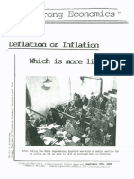 Deflation or Inflation--Which is More Likely? 9/29/09