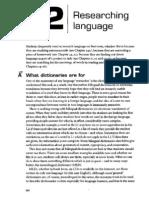 Researching Language