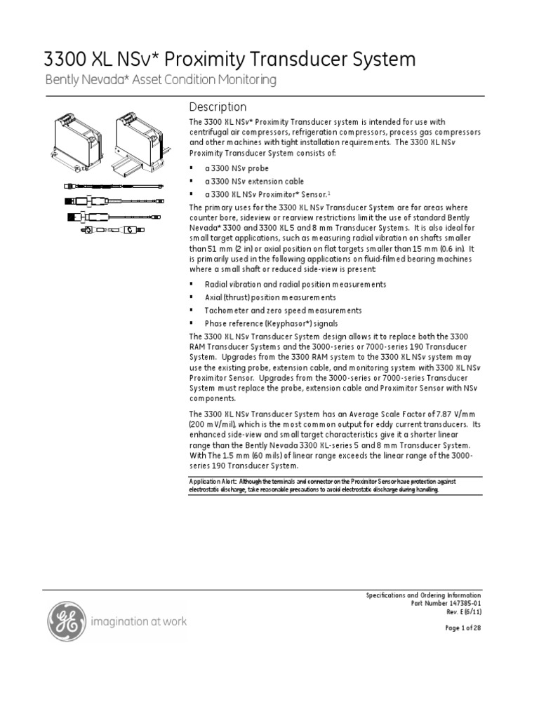 3300XL NSv   Electrical Connector   Cable on bently nevada cable, bently nevada installation guide, bently nevada 3300 manual, eddy current sensor circuit diagram,