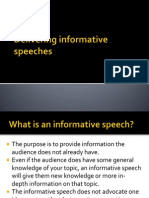 Delivering Informative Speeches
