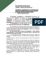 GOVERNO DO ESTADO DE SÃO PAULO - Inscrição docentes