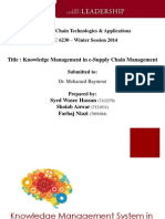 Knowledge Managnment and Supply Chain Management - EBC6230