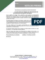 NP. 018-14 Municipalidad de Lima Inicia Los Trabajos de Reforzamiento de Las Estructuras Del Puente Carriquiry