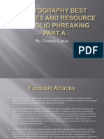Cryptography Best Practices and Resource Portfolio Phreaking Presentation 1