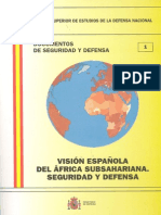 001 Vision Espanola Del Africa Subsahariana. Seguridad y Defensa