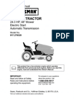 "Craftsman Garden Tractor 24.0 HP,48"" Mower"