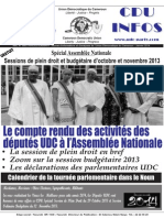 Journal UDC Infos - Édition Janvier 2014