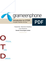 OTDR -Optical time domain reflectrometer Prepared & Presented by Rahat Azim Chowdhury for Grameen Phone Technical Division