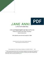 Jane Annie Libretto