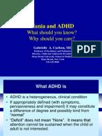 Mania & ADHD