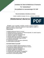 recomandări metodice dureri cronice