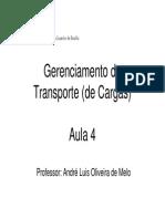 Aula 4 - Gerenciamento de Transporte de Cargas