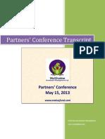 2013 Partners Confererence Transcript