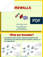 Introduction to Firewall Prepared & Presented by Rahat Azim Chowdhury