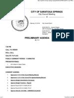 2-18-14 CC Preliminary AGENDA
