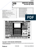 Mc-909 Service Notes