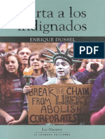 Dussel, Enrique Carta a Los Indignados