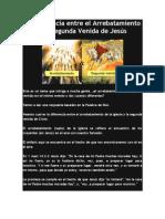 La Diferencia entre el Arrebatamiento y la Segunda Venida de Jesús