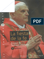 RATZINGER - La fiesta de la fe ensayo de teología litúrgica