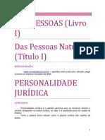 01. DAS PESSOAS - Das Pessoas Naturais