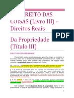 15. Do Direito Das Coisas (Reais) - Da Propriedade
