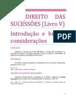 22. DO DIREITO DAS SUCESSÕES - Breve introdução