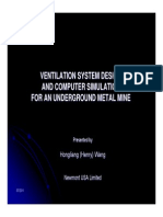 SME 2011 Metal Mine Ventilation Design and Simulation Hongliang Wang
