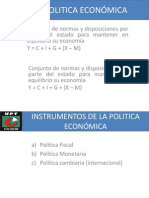 POLITICA ECONÓMICA